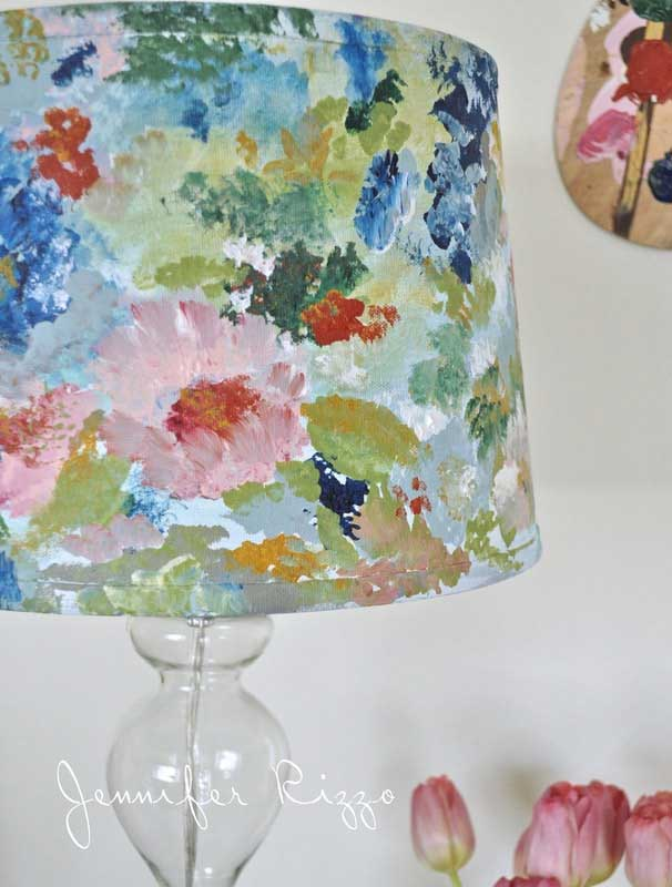 diy painted lampshade