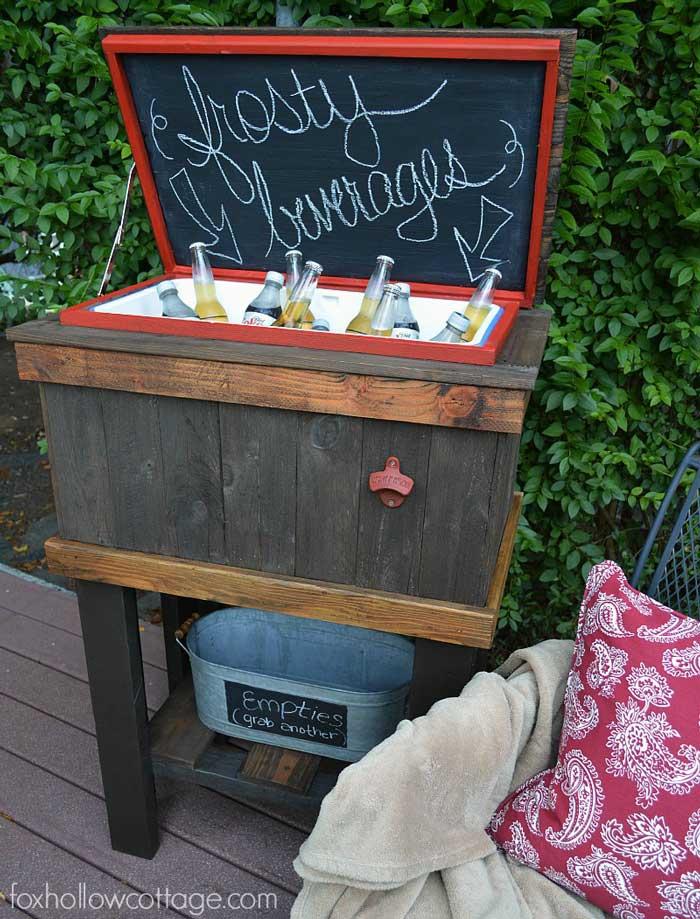 diy pallet wood outdoor cooler