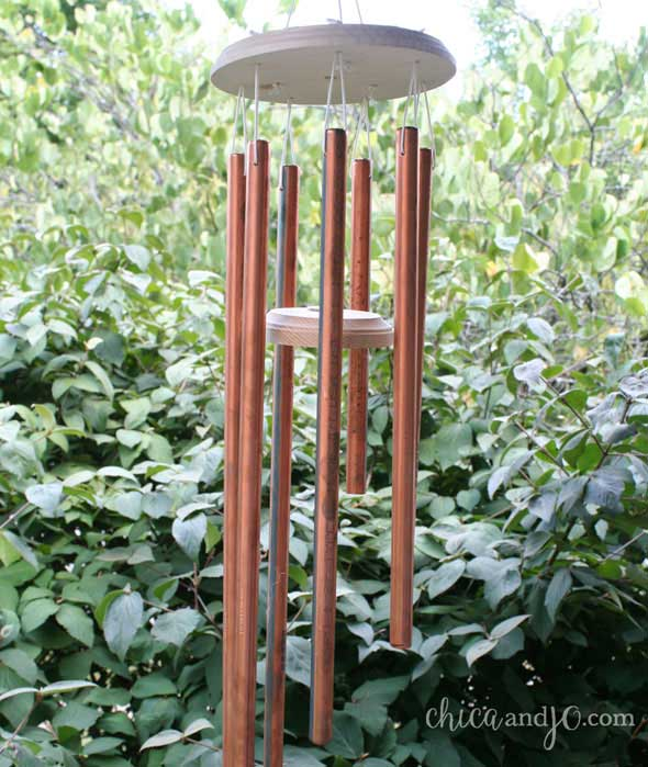 diy wind chime with copper pipe