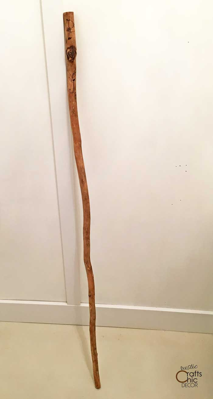 finished diy walking stick