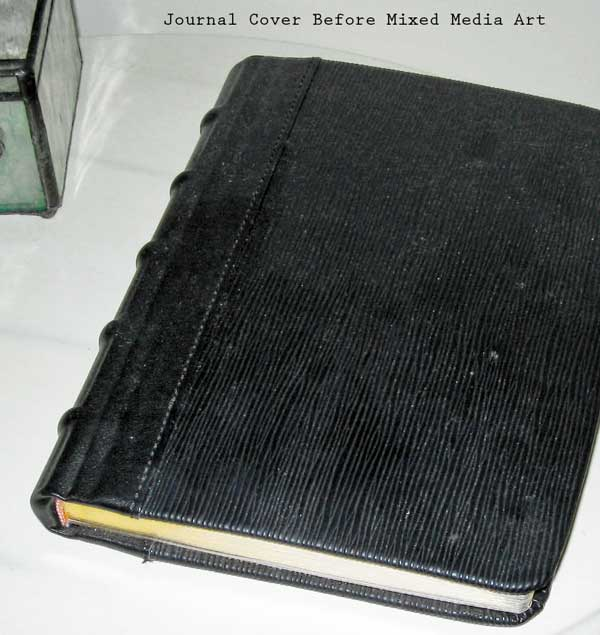 journal before mixed media art