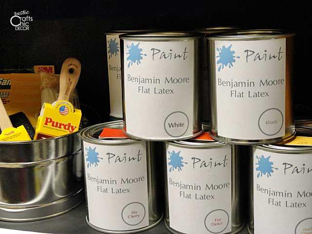 paint storage cans