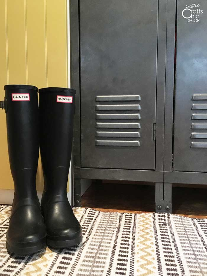 rain boots on display