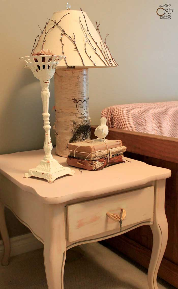 shabby chic end table makeover