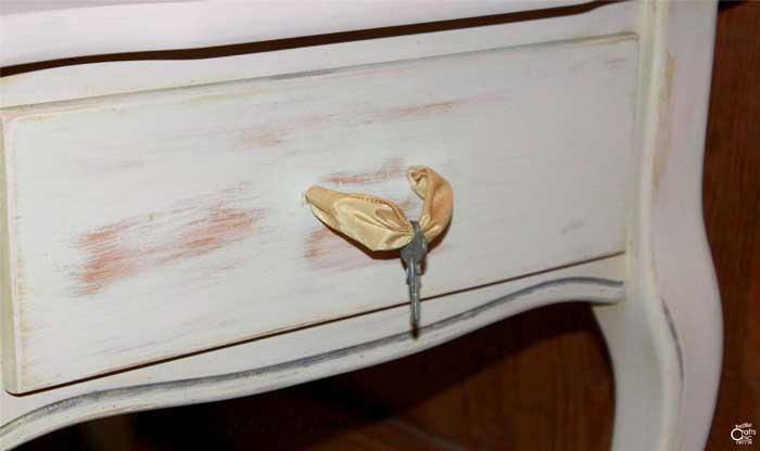 thrift store table drawer makeover