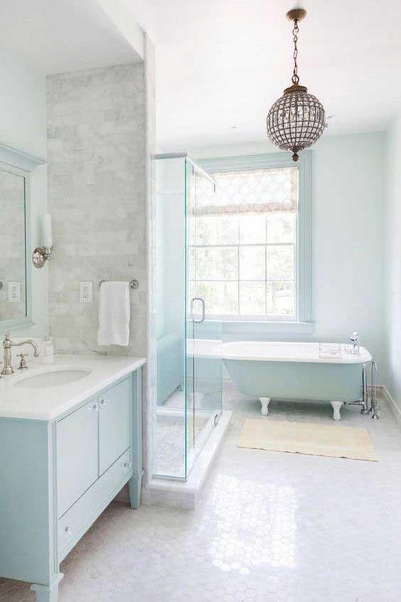 bathroom glitzy chandelier