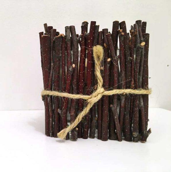 birch branch candle holder