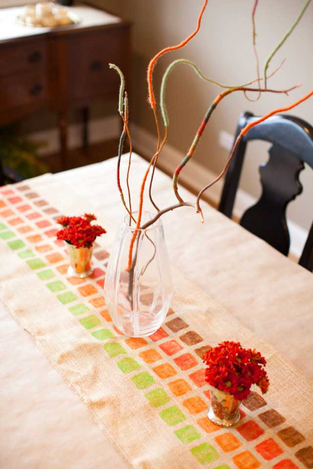 fall table runner craft