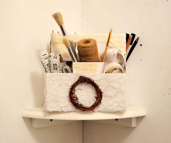 diy rustic craft storage