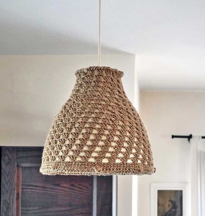 crocheted lampshade
