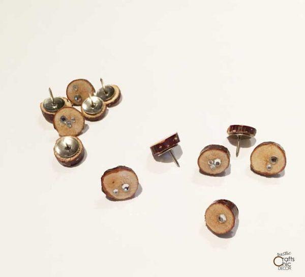 diy rustic thumbtacks