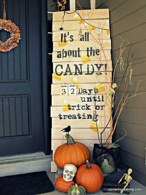halloween porch sign