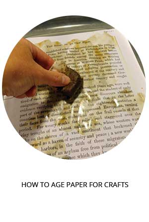 how to age paper for book crafts tutorial