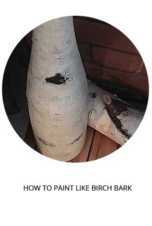 how to paint anything to look like birch bark tutorial