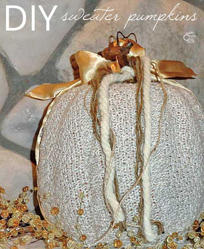 how to make sweater pumpkins