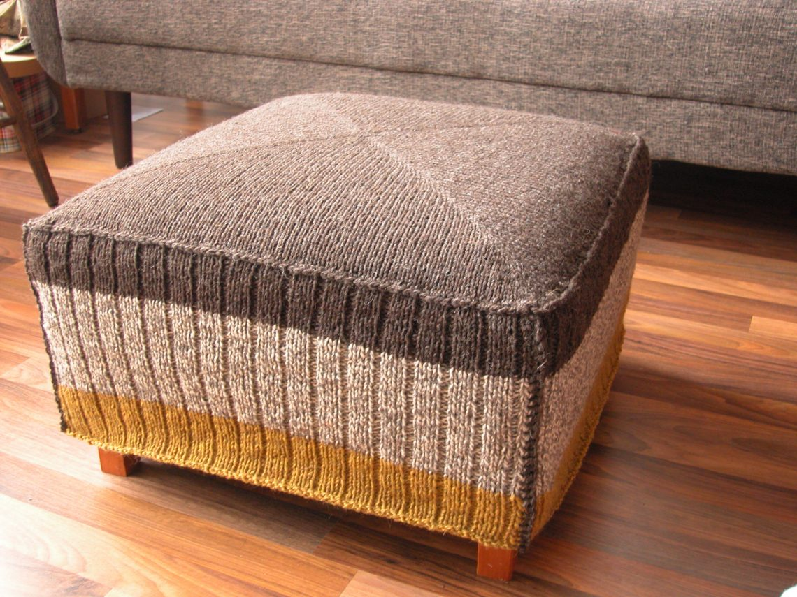 knitting projects - ottoman