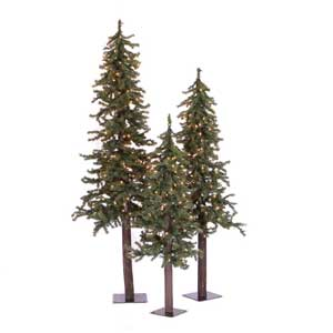 alpine christmas tree set