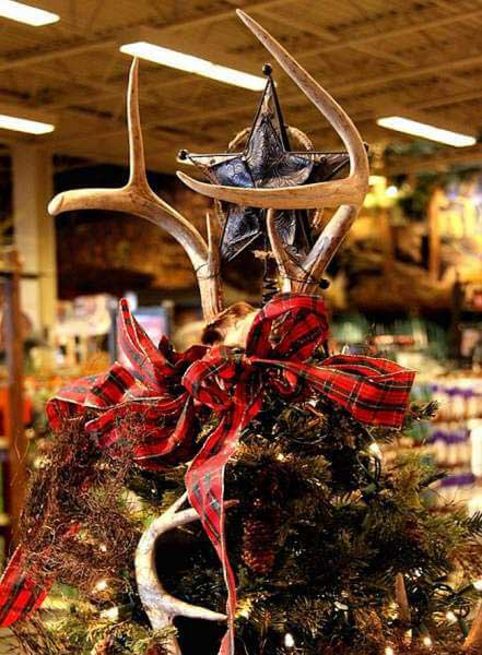 antler tree topper