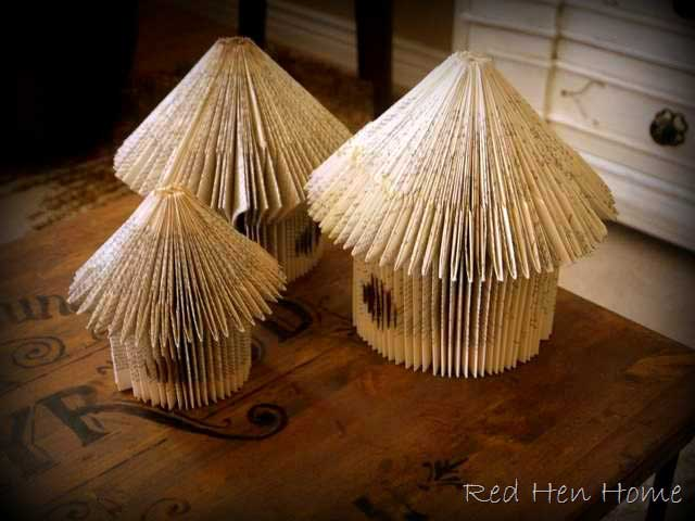 book page birdhouses