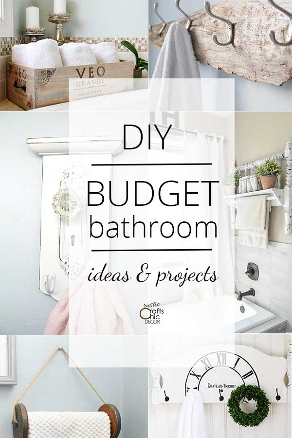 diy bathroom decor on a budget