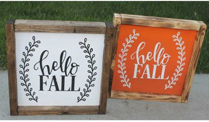 fall diy signs