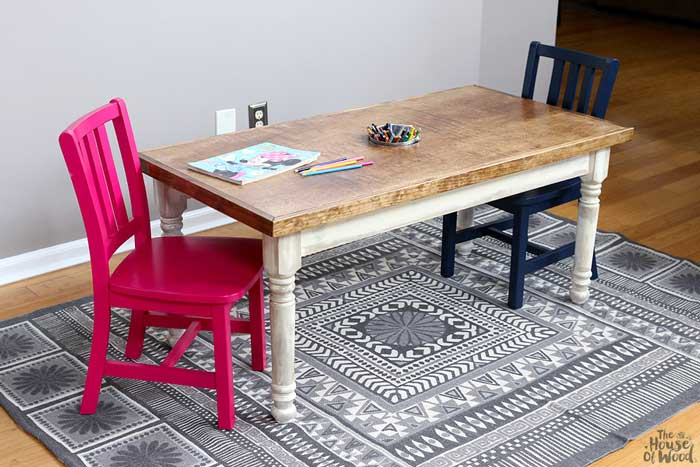 kid size farmhouse craft table