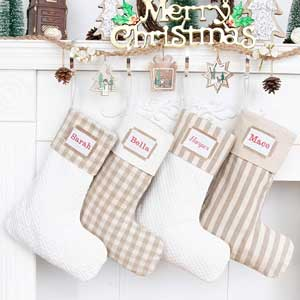 personalized rustic christmas stockings