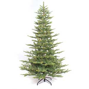 pre-lit aspen fir christmas tree