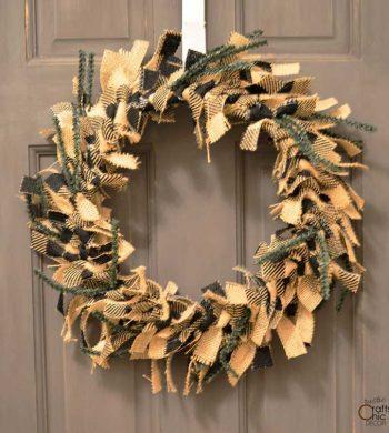 burlap rag wreath