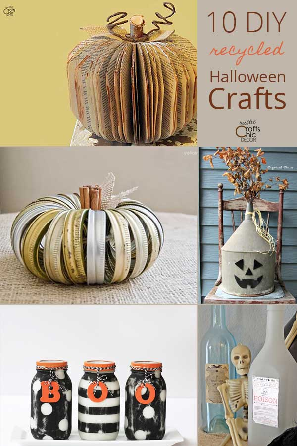 recycled halloween crafts