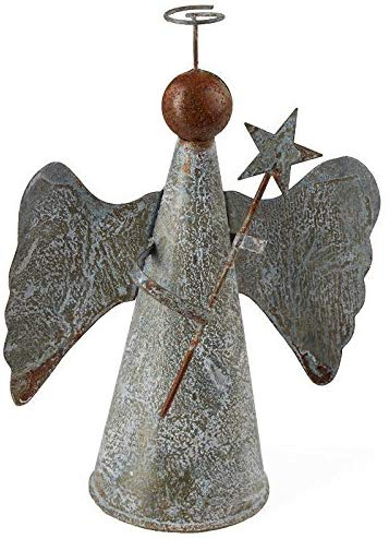 rustic tin angel tree topper