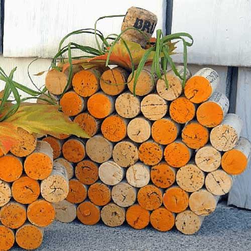 wine cork pumpkin craft