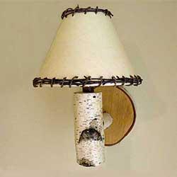 diy birch lamp