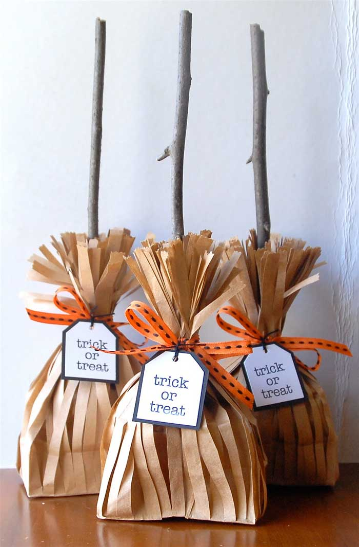 halloween witches broom party favors
