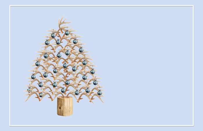 antler tree Christmas image