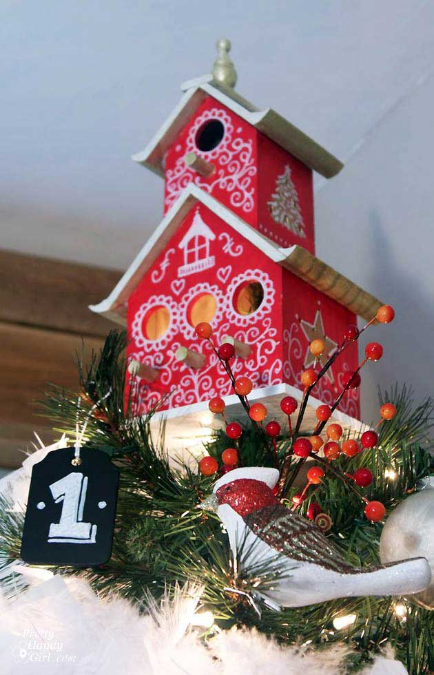 bird house Christmas tree topper