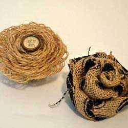burlap flowers craft for rustic decor