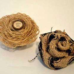 burlap flowers craft for rustic decor