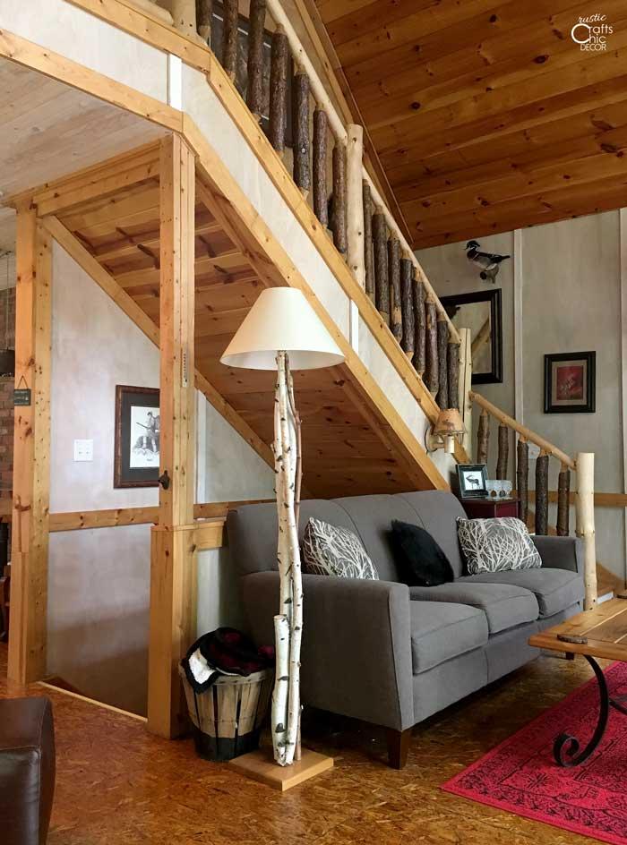 cabin stairway