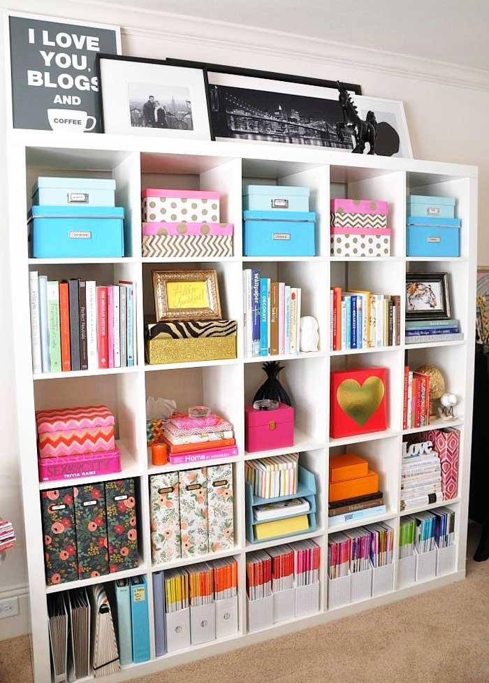 craft room decor with books