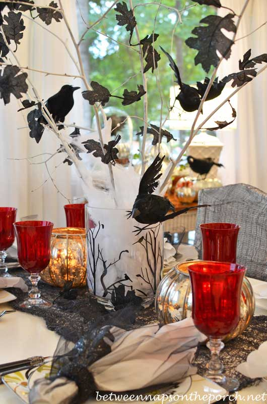 diy crow centerpiece craft