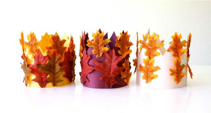 fall leaf crowns project