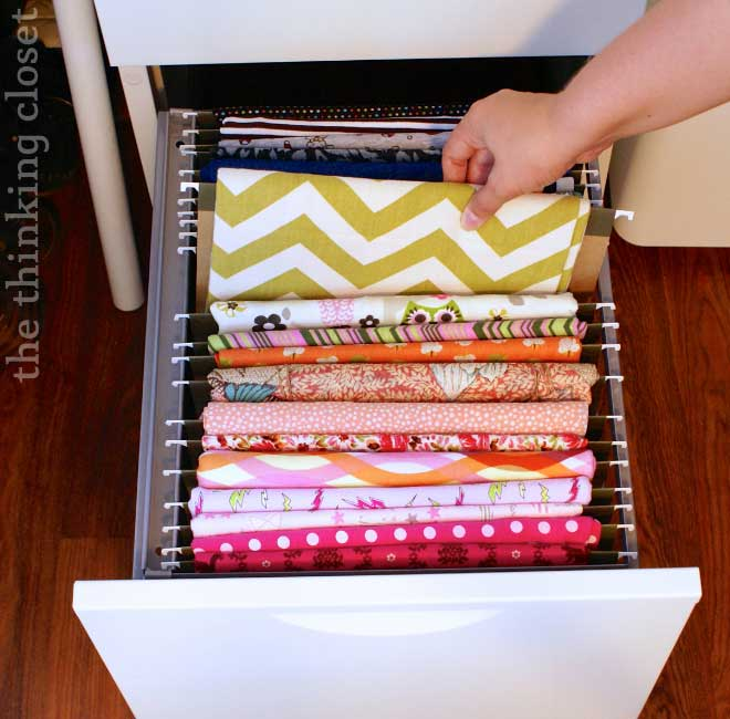 file cabinet for fabric storage