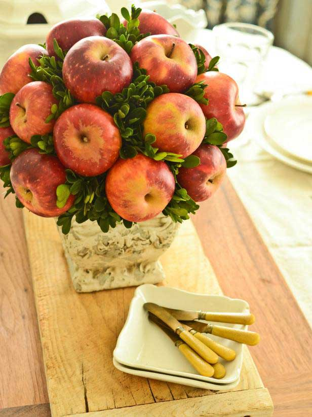fresh apple centerpiece decor