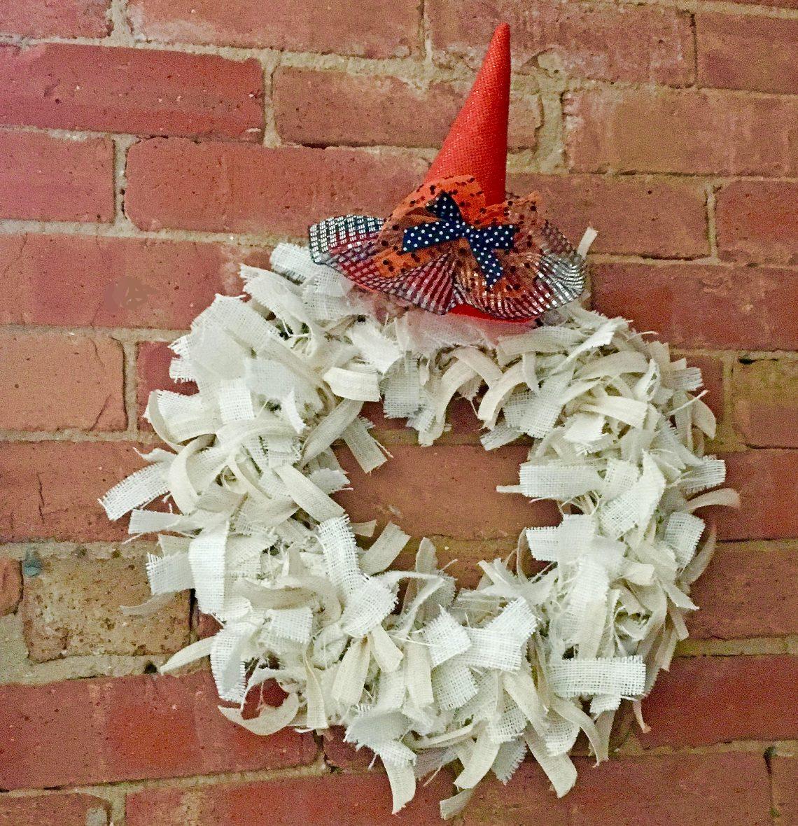 halloween rag wreath idea