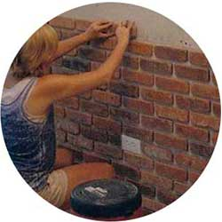 how to install a thin brick wall for rustic decor
