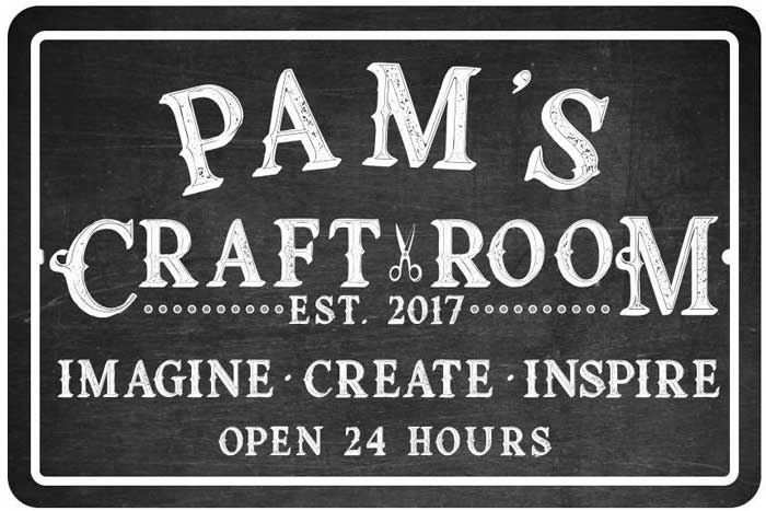 inspirational and personalized craft room sign