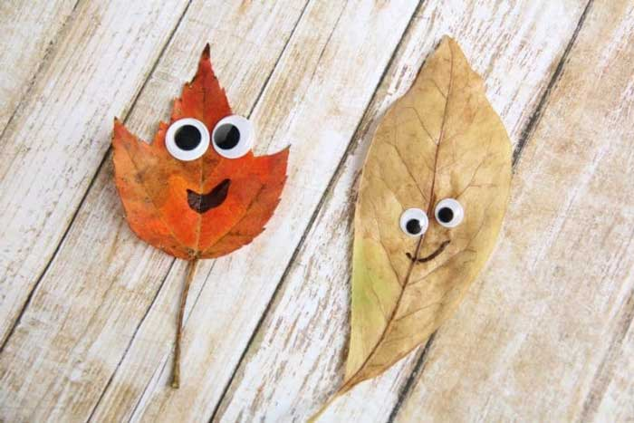 leaf people craft for preschoolers