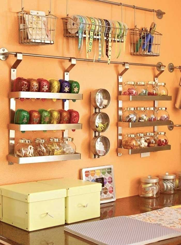 orange craft room