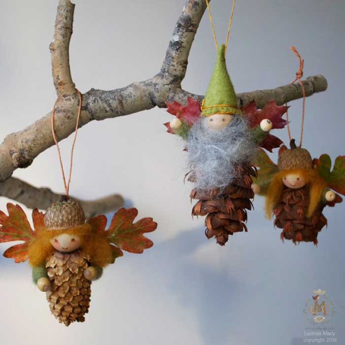 pinecone fairy ornaments